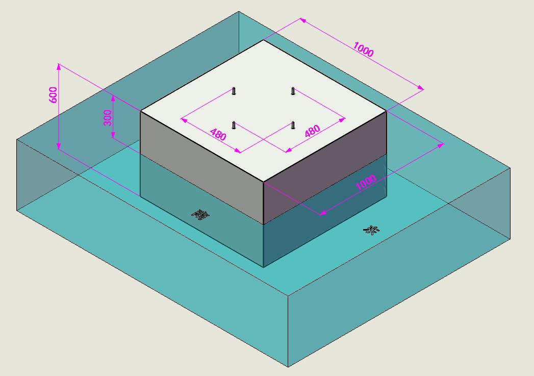 柜体式太阳能杀虫灯(三层滤网)地基施工图纸